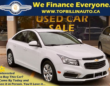 2015 Chevrolet Cruze LT Backup Cam, Bluetooth, Auto, Only 34K Sedan