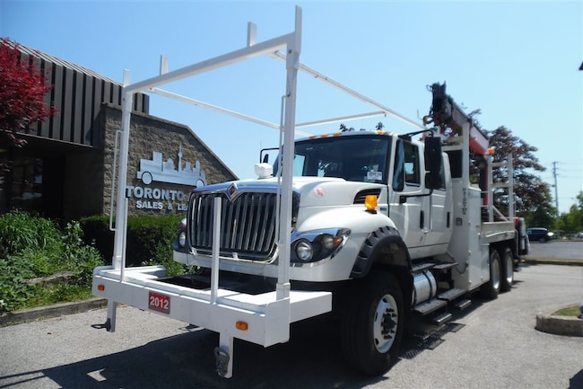 2012 INTERNATIONAL 7600 Workstar Crew Cab,Palfinger Crane,Ready for work.