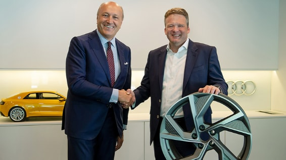 Audi Signs 10-Year Partnership for Sustainable Wheel Production