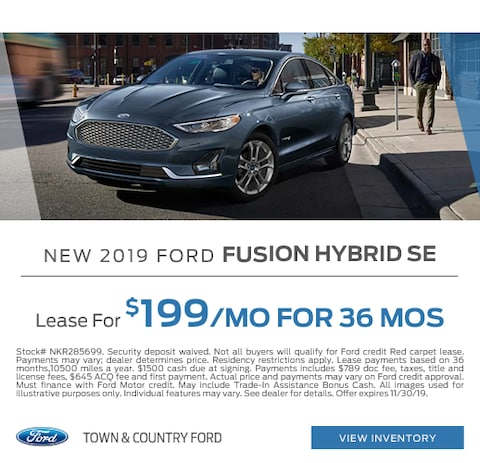 2019 Ford Fusion Hybrid Lease Special