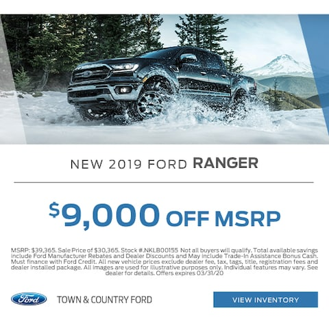 2019 Ford Ranger Purchase Specials
