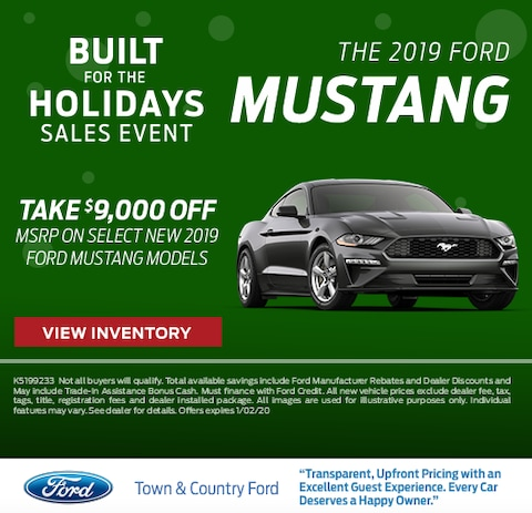 2019 Ford Mustang  Purchase Special