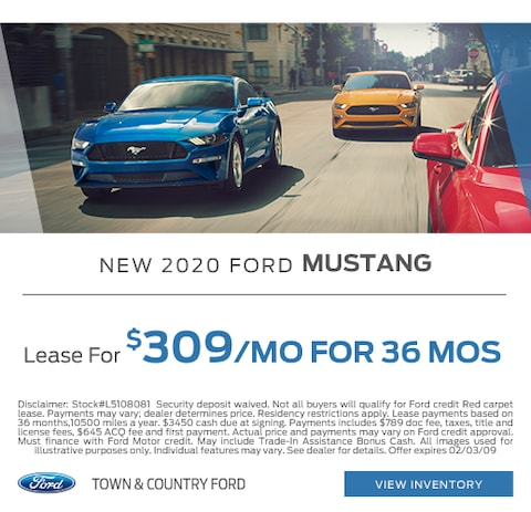 2020 Ford Mustang Lease Special