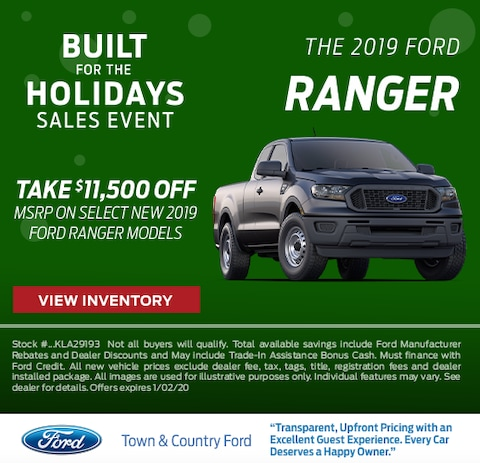 2019 Ford Ranger Purchase Special