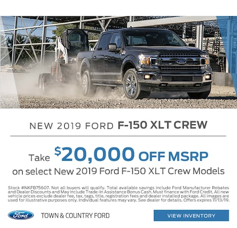 2019 Ford F-150 XLT Crew Purchase Special
