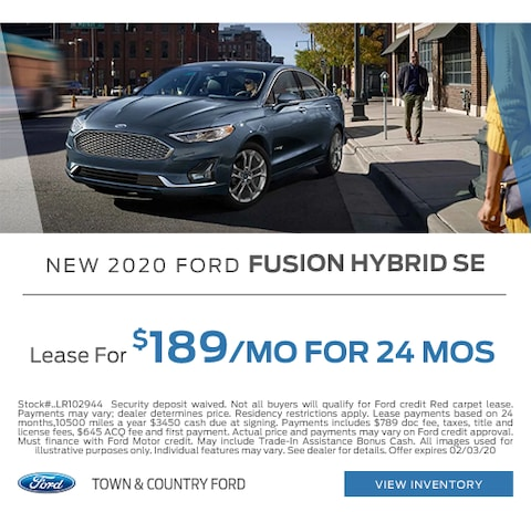 2020 Ford Fusion Hybrid Lease Special