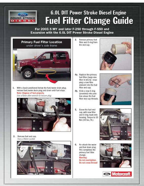 6.0l fuel filter change guide | town east ford mesquite tx  town east ford
