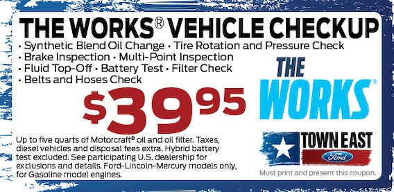 Ford The Works >> Ford Oil Change Service Plus The Works In Mesquite Town