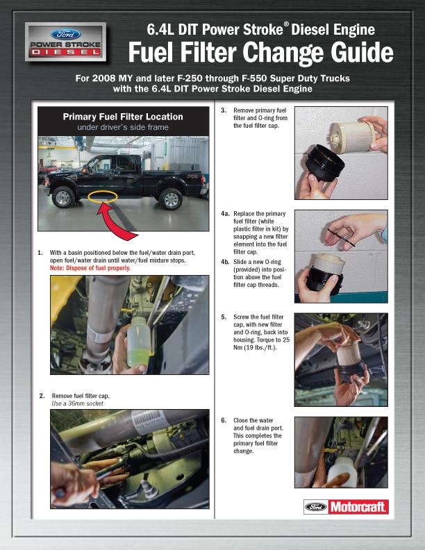6 4l fuel filter change guide