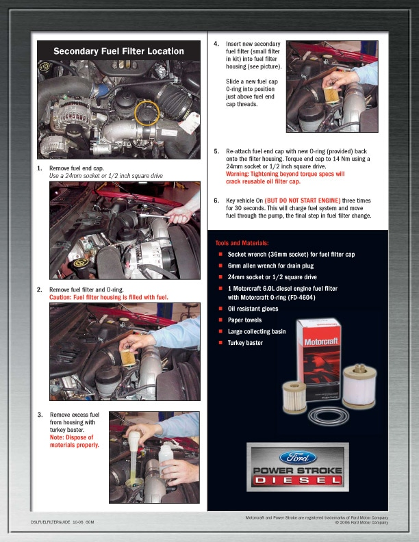60l Fuel Filter Change Guide Town East Ford Mesquite Txrhtowneastford: Ford 6 0 Fuel Filter Change At Gmaili.net