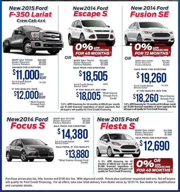 Last Minute Markdown Ford Truck Offer Ford Car Offer
