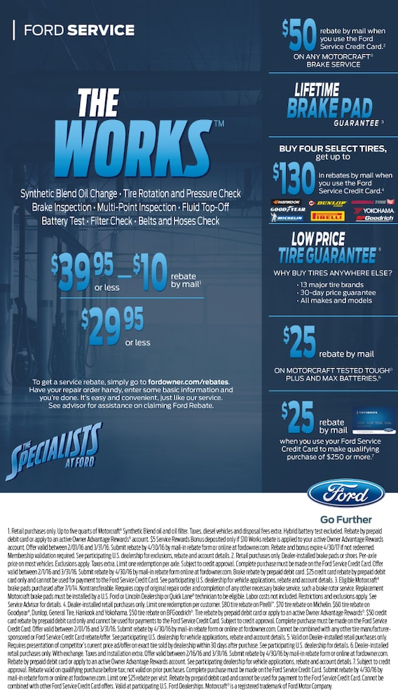 Ford The Works >> Ford Service The Works At Town East Ford In Mesquite