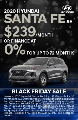 2020 Hyundai Santa Fe SE Lease