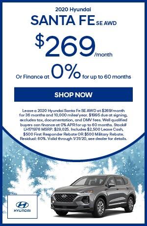 2020 Santa Fe multi-offer