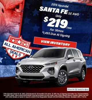 July 2019 Hyundai Santa Fe Lease