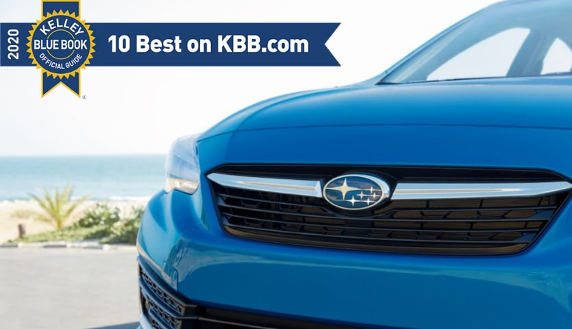 Subaru Named to KBB's 2020 Most Awarded Lists