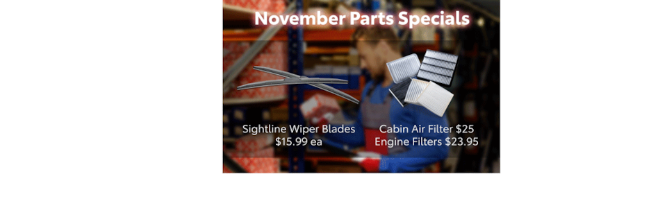 Wiper Blades, Air Filters, & Engine Filters