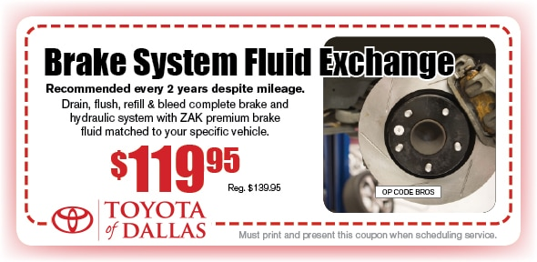 Brake Fluid Exchange Coupon, Dallas, TX. If no image displays, this offer has ended.