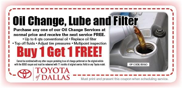 Printable Toyota Oil Change Coupons >> Toyota Oil Change Coupon Dallas