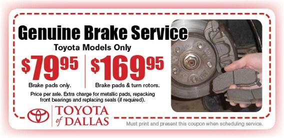 Brake Pads And Rotors Prices >> Automotive Brake Service Special Dallas Brake Pad Service Coupon