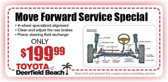 Tire Alignment Coupon >> 4 Wheel Alignment Toyota Of Deerfield Beach Service Coupon Fort