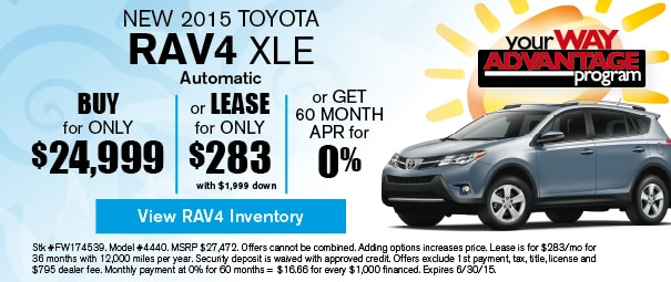New 2015 Toyota RAV4 Offer, Deerfield Beach FL
