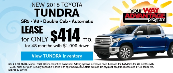 New 2015 Toyota Tundra Offer, Deerfield Beach FL