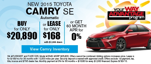 New 2015 Toyota Camry Offer, Deerfield Beach FL