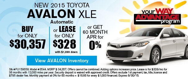 New 2015 Toyota Avalon Offer, Deerfield Beach FL