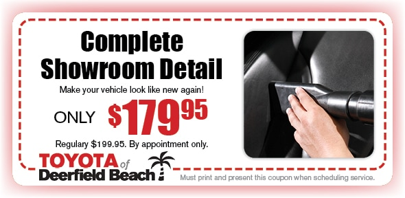 Complete Showroom Detail, Deerfield Beach Toyota Automotive Service