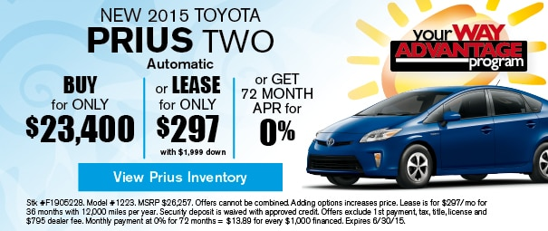 New 2015 Toyota Prius Two Offer, Deerfield Beach FL