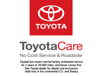 ToyotaCare - No Cost Maintenance Plan With Roadside Assistance