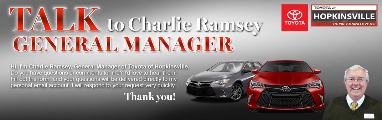 Toyota Of Hopkinsville >> Talk To The Dealer Toyota Of Hopkinsville