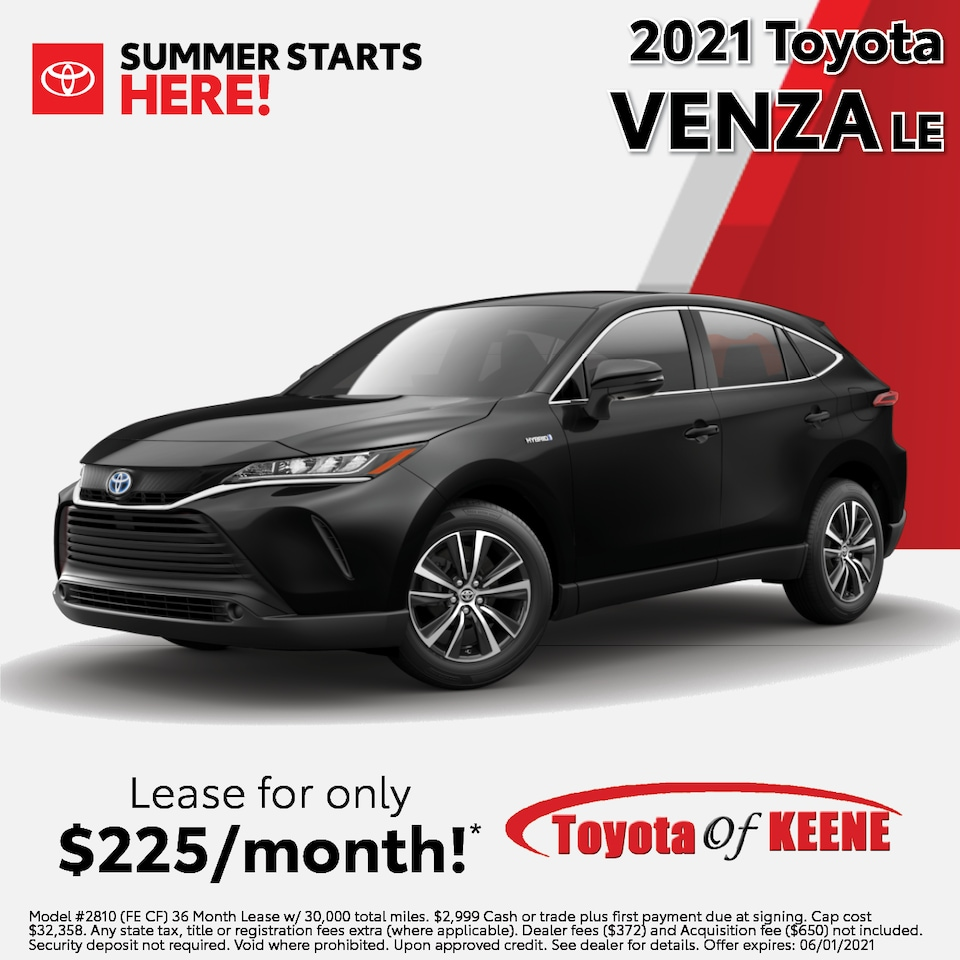 Lease a '21 Venza as low as $225/mo!*