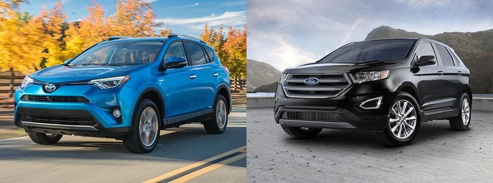 Crossover Comparison Toyota Rav Vs Ford Edge