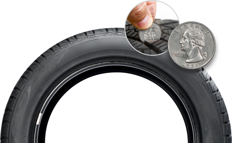 Check Tire With Quarter Test