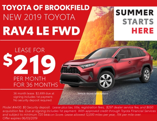 Toyota Lease Deals >> New Toyota Lease Deals Specials Financing Toyota Of Brookfield Wi