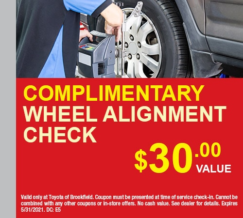 Complimentary Wheel Alignment Check