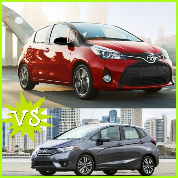 Toyota Yaris vs Honda Fit