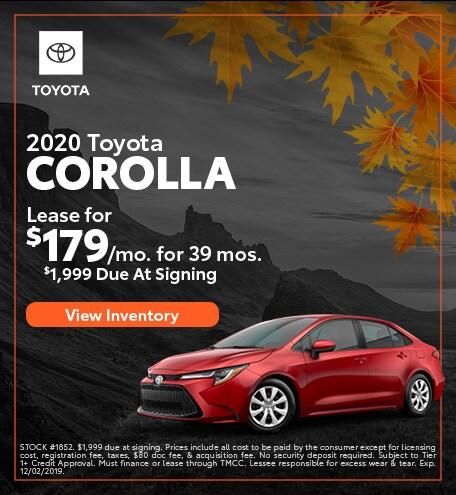 2020 - Corolla - November
