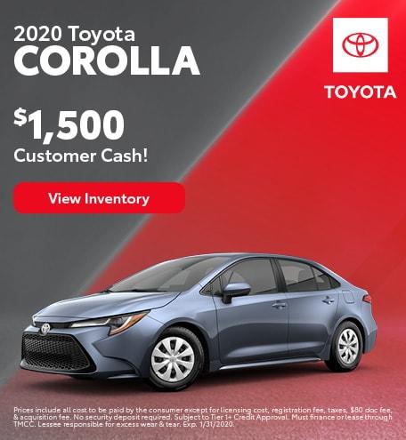 2020 - Corolla - January