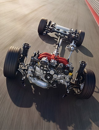 Motor and suspension of the Toyota 86