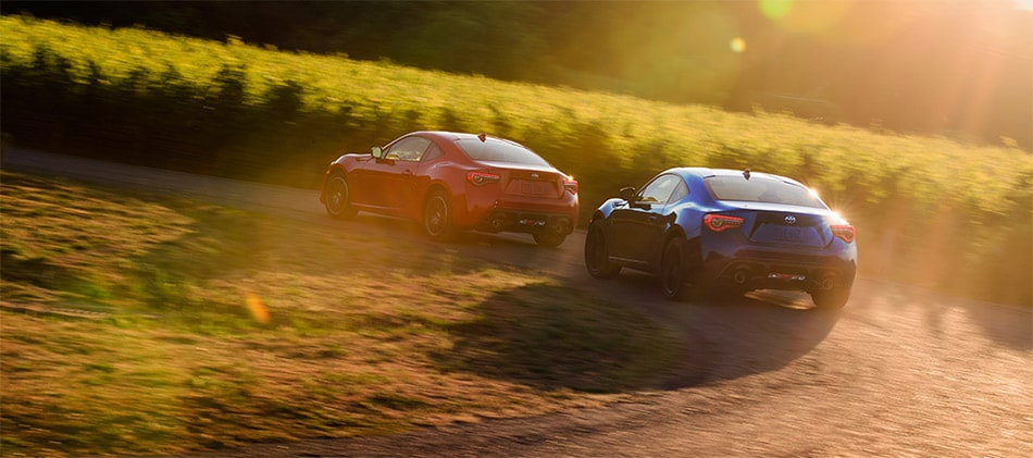 Red and Blue Toyota 86's