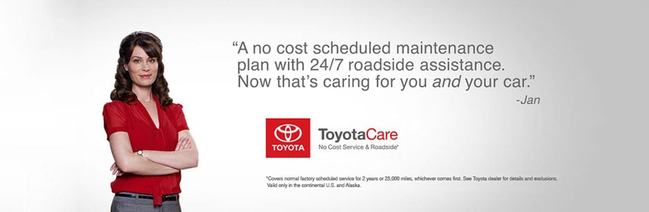 ToyotaCare Maintenance and Roadside Assistance