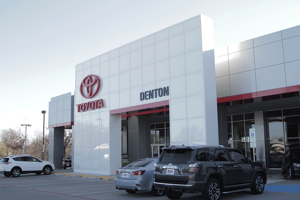 Front of Toyota of Denton