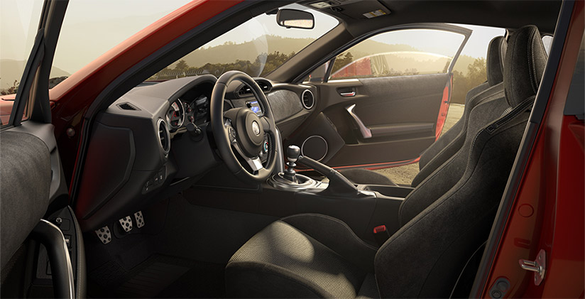 Dashboard and Interior of the Toyota 86