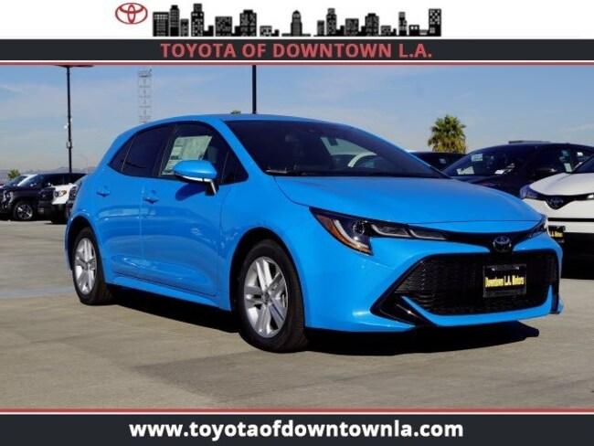 New 2019 Toyota Corolla Hatchback Hatchback Se Blue Flame For Sale
