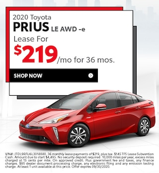 2020 Toyota Prius LE AWD -e