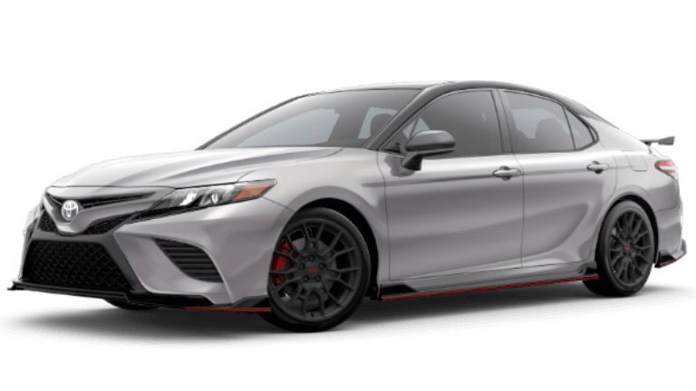 2020 Toyota Camry TRD in Celestial Silver Metallic with TWO-Tone Midnight Black Metallic Roof
