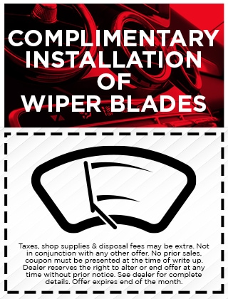 Complimentary Wiper Blade Installation